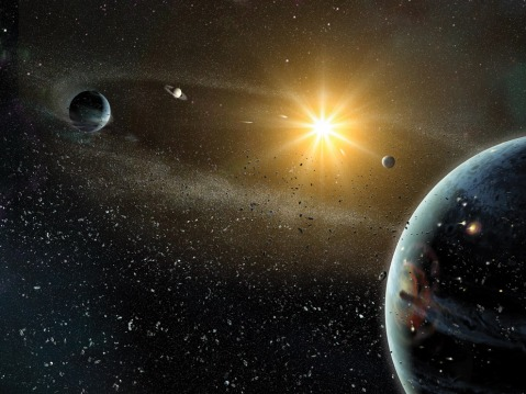 Artist impression of planetary system. Image credit: Dana Berry